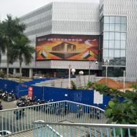 海口南亚广场  P10全彩  250平方